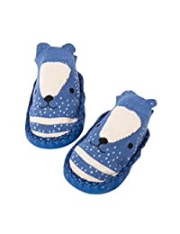 Sunward Cute Baby Boys Girls Toddlers Moccasins NON-SKID Indoor Shoes Socks/Slippers