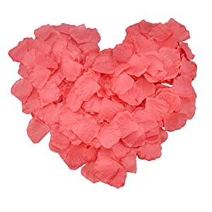 SunshineTrees 1000pcs Artificial Petals Silk Rose Petals Flower Wedding Decoration Favors (Red) 2
