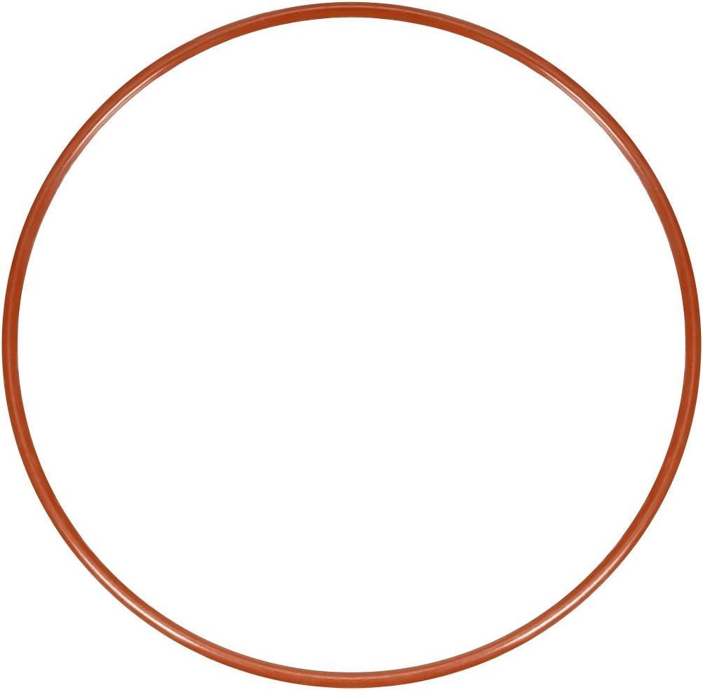 Sourcingmap Joint torique en silicone Rouge 48 mm-145 mm Diam/ètre ext/érieur a18032900ux0222