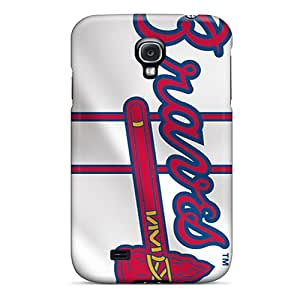 New Fashionable CalmCases HJI10854Wqih Cover Case Specially Made For Galaxy S4(atlanta Braves)