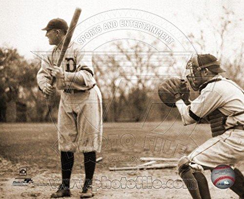 (Ty Cobb - Batting, sepia Photo 8 x 10in)