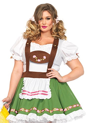 Leg Avenue Women's Plus-Size Oktoberfest Sweetie Costume, Multi, -