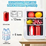 Mini Fridge with Cooler and Warmer, 10 Liter