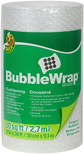 - Duck Brand Bubble Wrap Original Protective Packaging, 12 Inches Wide x 30-Feet Long, Single Roll (393251)