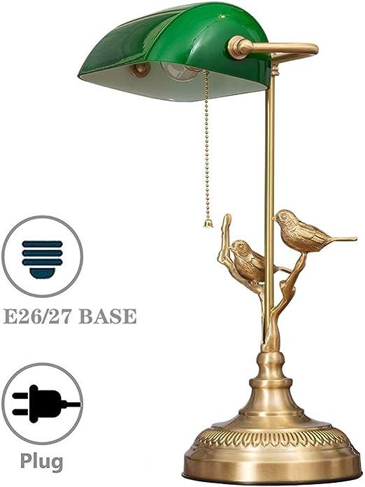 Toda la lámpara de escritorio de bronce Lámparas de banqueros de ...