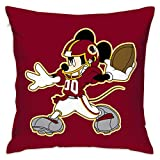 "Dalean Washington Redskins Cartoon Pillowcase, Zipper Pillowcase, Office Pillow Case (17.7"" X17.7)"