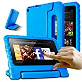 AFUNTA Tablet 7 2015 Case,Light Weight Shock Proof Convertible Handle Stand EVA Protective Kids Case for 7 inch Display Tablet (5th Generation - 2015 Release Only)-Blue