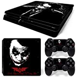 PS4 Slim Vinyl Skin Sticker Decal Cover for PlayStation 4 PS4 Slim Console Controller Joker