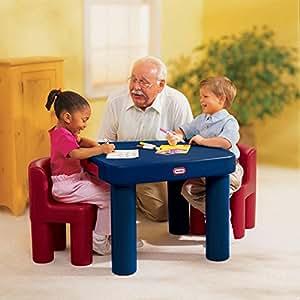 Amazon Com Little Tikes Large Table Set Includes 2