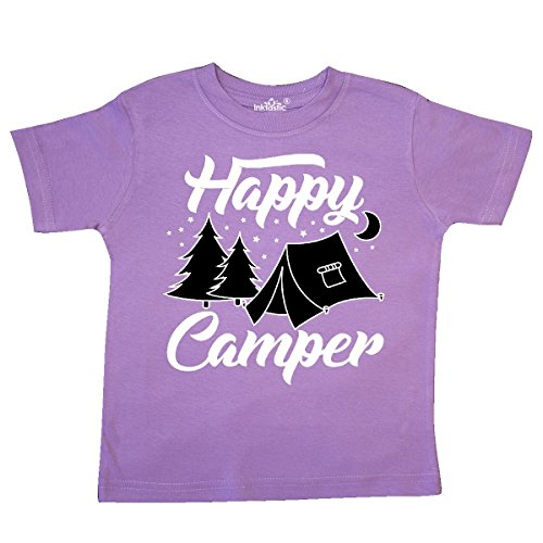 Campers Tent - inktastic - Happy Camper with Tent Trees Moon and Toddler T-Shirt 3T Lavender