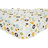 Carter's Easy Fit Printed Crib Fitted Sheet, Laguna (Discontinued by Manufacturer)