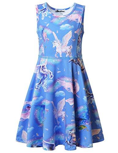 Jxstar Little Girl Dress Kids Dress Kids Girls Kids Clothes Princess Dress up Sky Unicorn 130]()