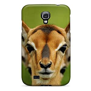 Ultra Slim Fit Hard GuyMWam Case Cover Specially Made For Galaxy S4- Animals Giraffes Deer Camels Zebras Artiodactyls Antelope