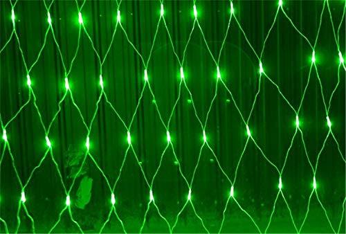 UNIQUE-F Rojo Verde LED Luz de Red Super Brillante Luz de Hadas Impermeable Frío Interior de la Pared Césped al Aire Libre...
