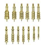 IUNIO Solid Brass Gun Jag Set 13 Pack Gun Cleaning Supplies