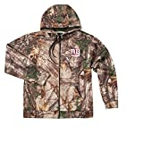 NFL New York Giants Boys Champion Realtree Xtra Polyester Tech Fleece Full Zip Hoodie, 3X, Camo