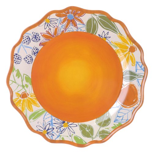 Grasslands Road 4-Pack Melamine Farm Fresh Floral Dinner Plate, 11-Inch