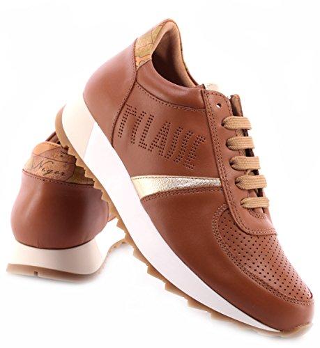 Sneakers ITA Donna Pelle Brown MARTINI Leather ALVIERO Marrone Scarpe 1°Classe apd5wqqx