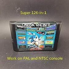 126 in 1 Game Card For Sega Megadrive Genesis with Vampire Killer Sunset Riders Mega man Turrican Bomberman , Games for NES , Game Cartridge 8 Bit SNES , cartridge snes