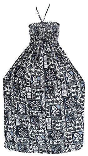 LA LEELA para Mujer de la Tarde de la Falda Maxi Vestido Tubo de Correas de Desgaste de la Playa del Traje de baño Traje de baño Encubrimiento Negro_j371