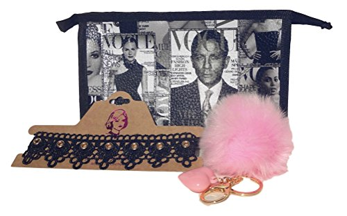 best-3-piece-pink-new-unique-trendy-designer-faux-fur-pom-pom-keychain-new-lace-choker-necklace-hip-