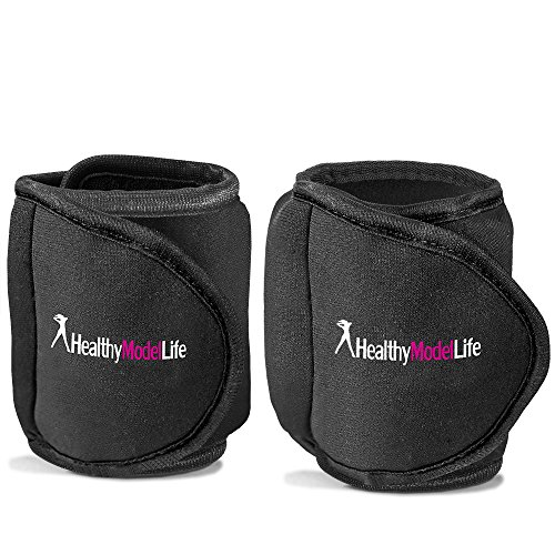 Ankle Weights Set by Healthy Model Life (2x5lbs Cuffs) - 10lb in total - As Worn By Victoria Secret Angels - Used In Top Gyms in New York