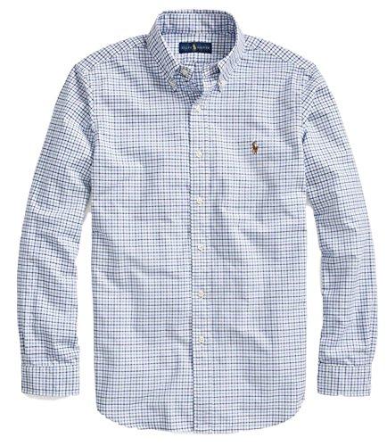n's Long Sleeve Oxford Poplin Classic Fit Shirt-BW-L (Poplin Oxfords)