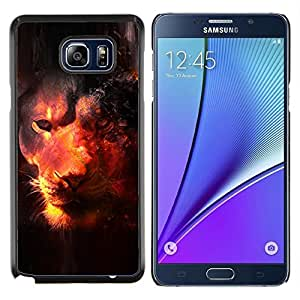 "Be-Star Único Patrón Plástico Duro Fundas Cover Cubre Hard Case Cover Para Samsung Galaxy Note5 / N920 ( Universo León Majestic Bestia Animal África"" )"