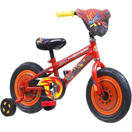 Blaze and the Monster Machines R7214WMDS Kids' Bike, 12″, Steel Frame, Training Wheels Included, For Boys Ages 2 to 4 Top Deals