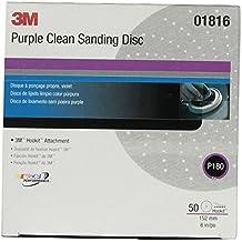 "3M 01816 Hookit Purple 6"" P180C Grit 734U Clean Sanding Disc"
