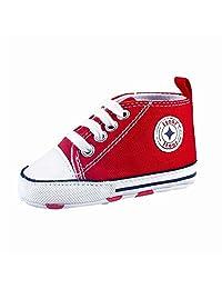 Prewalker Infant Sweet Canvas Sneaker Anti-skid Soft Shoes Trainer 3-18M