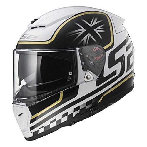 LS2 Helmets Unisex-Adult Full Face Helmet (Gloss White, X-Small) (Breaker Classic)