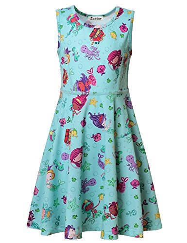 Yoga Products : Jxstar little Girls Mermaid Dress, Fairy Dress,Queen Magic Castle Dress, Summer Sleeveless Dress, Skater Dress