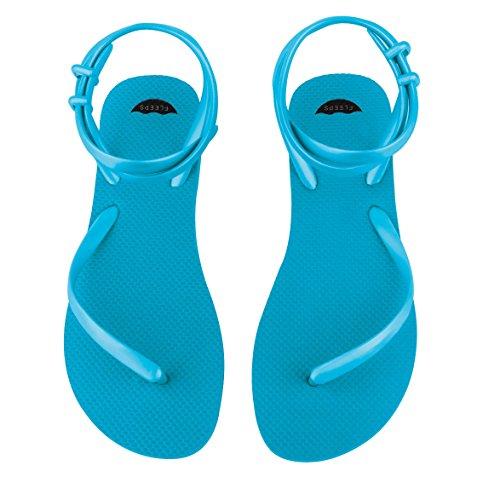 Insanely With Women Sandal Blue Flip Comfortable s FLEEPS Flip Gladiator Style Wedding Summer Sandals Flops Strap In Handmade Beach Rica or Perfect Sandals Costa Aquamarine Sandals Ankle Flops wXBnIqBzd