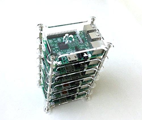 GeauxRobot Raspberry Pi 3 Model B 6-layer Dog Bone Stack Cle