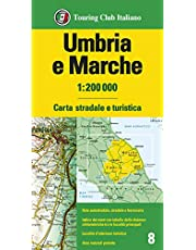 Umbria e Marche 1:200.000. Carta stradale e turistica. Ediz. multilingue