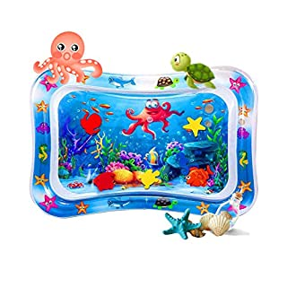 EasonWayUS Tummy Time Water Play Mat for 3-9 Months Infants, Baby Tummy Time Water Mat for Indoor Play, Baby Toys Inflatable Play Center for 3/6/9 Months BPA Free