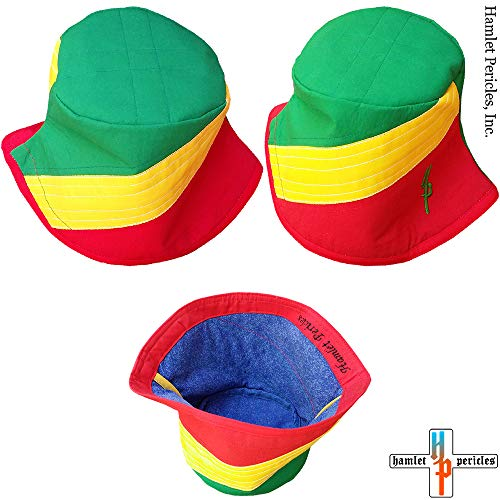 9f236b905448f Congo Republic Flag Bucket Hat | Congo-Brazzaville Flag Hat | Congolese |  Country Hat