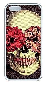 iPhone 6 Plus Case, iCustomonline Flower Skull Case for iPhone 6 Plus 5.5 inch