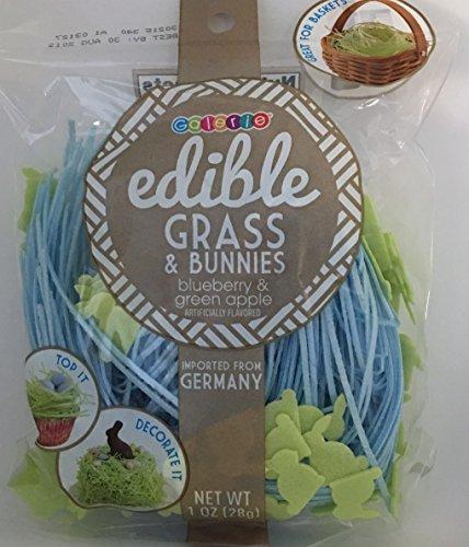 Grass Edible (Edible Easter Grass & Bunnies ~ 1 oz (Blueberry & Green Apple))