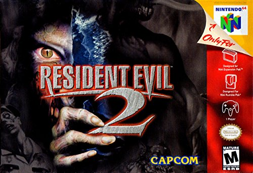 Resident Evil 2 (Nintendo 64) - Reproduction Game Cartridge with Replica Miniature Box and Game Manual