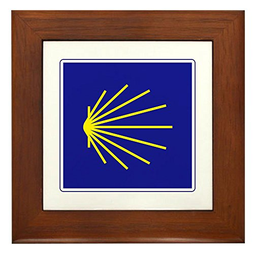 CafePress - Camino De Santiago, Spain - Framed Tile, Decorative Tile Wall Hanging by CafePress