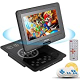 COOCHEER Portable DVD Player,10.1-Inch Crystal Panel Touch Buttons Travel HD Backseat CD DVD Player with Rechargeable Battery,Swivel Screen and Game Controller,Support USB/SD Card-Black Review