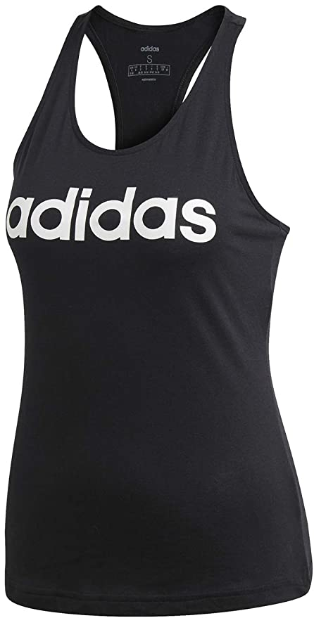 831831edc1e adidas Women's Essentials Linear Slim Tank Top: Amazon.co.uk: Sports ...