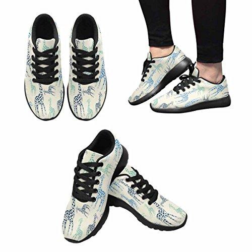 InterestPrint Womens Jogging Running Sneaker Lightweight Go Easy Walking Casual Comfort Running Shoes Giraffes Multi 1 TEIup