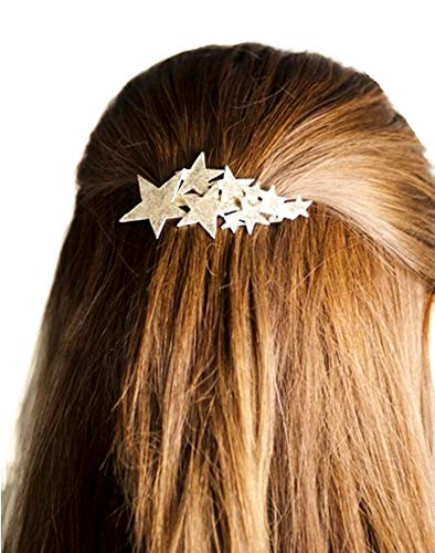 QTMY 2 PCS Metal Stars Hairpin Hair Clips Hair Accessories