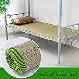 WENZHE Mattresses Cooling Mattresses Bedding Straw Summer Mattress Sleeping Mat Natural Grass Woven Double-sided Available Healthy Skin-friendly Breathable Student Dormitory, 4 Sizes Pad bed-mat