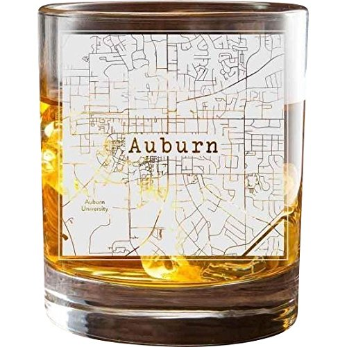 College Town Etched Map Glasses (100 Towns)