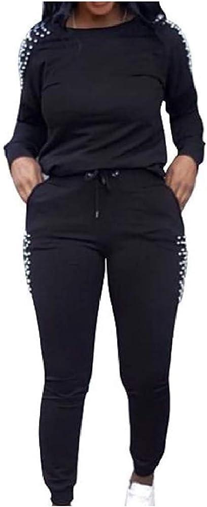 SOWTKSL - Conjunto de pantalón de chándal para Mujer, Color Verde ...