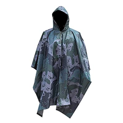 Adult Unisex Reusable Multi-use Rain Poncho.Breathable Rain Cape for Outdoors.Raincoat. at Amazon Men's Clothing store